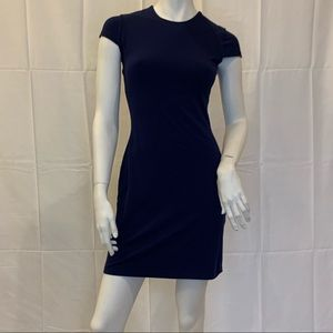 Susana Monaco Dresses - Navy blue cap sleeve fitted Susana Monaco dress Sm